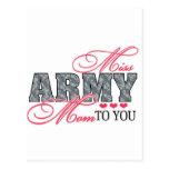 Srta. Army Mom Postales