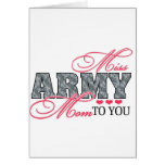 Srta. Army Mom Tarjetón