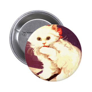 Srta. blanca Priss del gato Pins