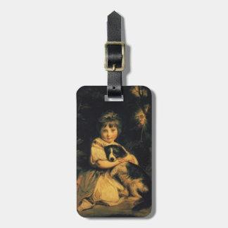 Srta. Bowles de Joshua Reynolds Etiquetas Maletas