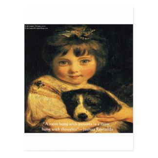 Srta. Bowles de Joshua Reynolds y regalos y Postal