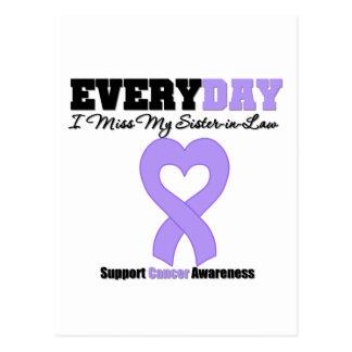 Srta. de general Cancer Every Day I mi cuñada Postales