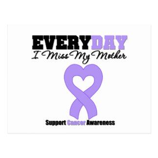 Srta. de general Cancer Every Day I mi madre Postal