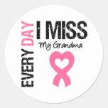 Srta. diaria My Grandma del cáncer de pecho I Pegatina Redonda