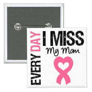 Srta. diaria My Mom del cáncer de pecho I Pin Cuadrado
