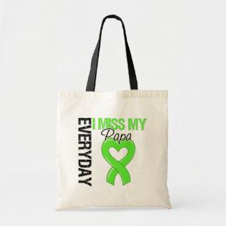 Srta. diaria My Papa del linfoma I Bolsas Lienzo