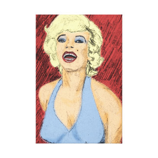 Srta. fabulosa M Blonde Bombshell Lona Estirada Galerías