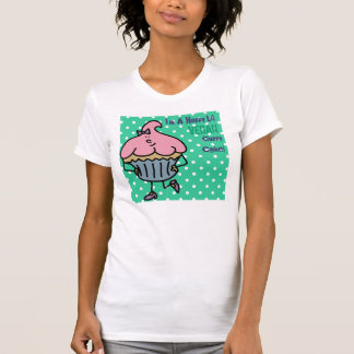 Srta. feliz Cuppy Cake Shirt de Lil del vegano Playera