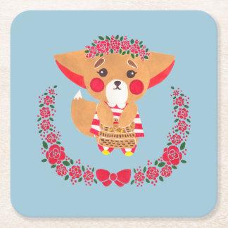 Srta. Fennec Fox Posavasos Desechable Cuadrado