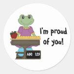 ¡Srta. Froggy/I orgullosa de usted! Pegatina Redonda