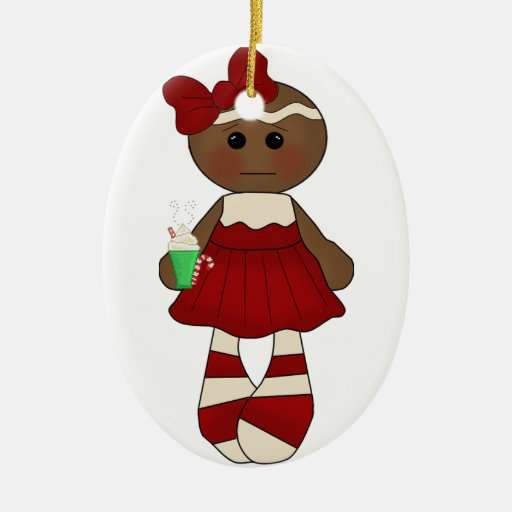 Srta. Ginger Ornament #2* *Oval Ornamento Para Reyes Magos