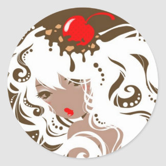 Srta Hot Fudge Sundae Stickers Pegatina