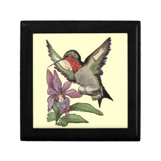 SRTA HUMMINGBIRD - pájaro personificado Cajas De Joyas