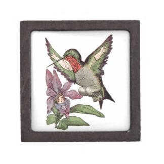 SRTA HUMMINGBIRD - pájaro personificado Caja De Recuerdo De Calidad