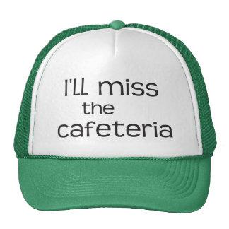 Srta. la cafetería - refrán divertido gorras de camionero