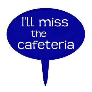 Srta. la cafetería - refrán divertido palillos de tarta