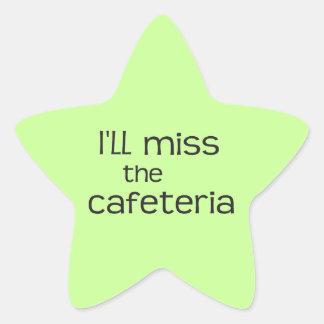 Srta. la cafetería - refrán divertido pegatina en forma de estrella