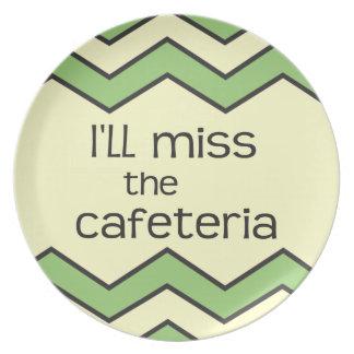 Srta. la cafetería - refrán divertido plato