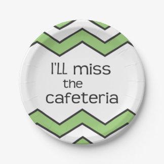 Srta. la cafetería - refrán divertido platos de papel