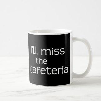Srta. la cafetería - refrán divertido taza básica blanca