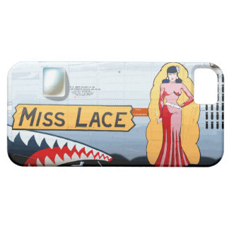 Srta. Lace B-24 Nose Art (fuselaje del vintage) Funda Para iPhone 5 Barely There