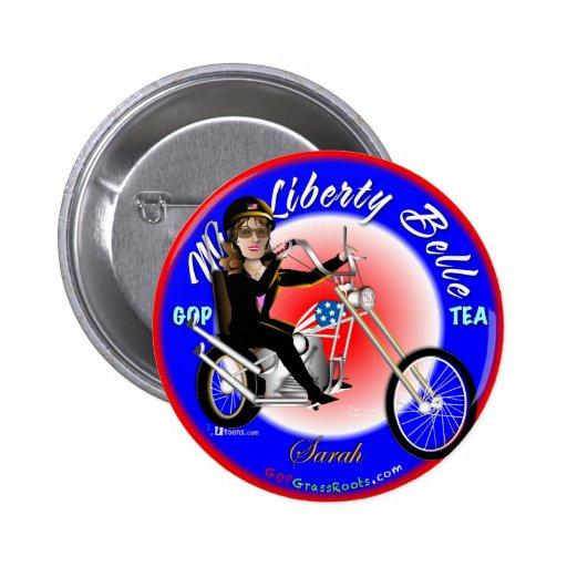 Srta. Liberty Belle Pin Redondo De 2 Pulgadas