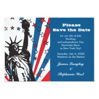 Srta. Liberty Patriotic Invitation Comunicado Personal