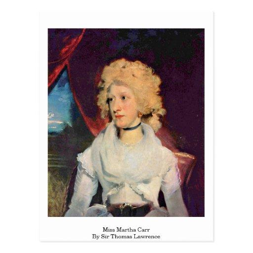 Srta. Martha Carr By sir Thomas Lorenzo Postales