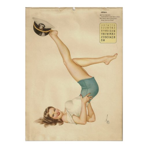 Srta. modela abril del chica poster