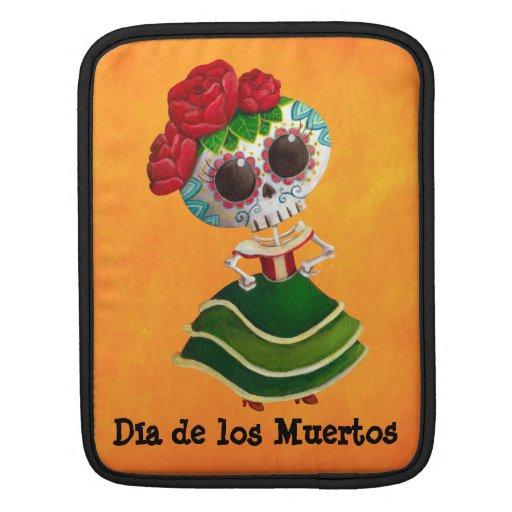 Srta. muerte de Dia de Muertos mexican Manga De iPad