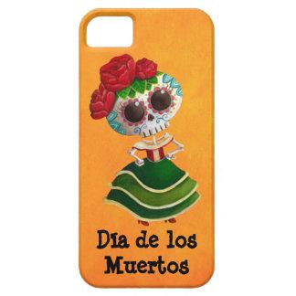 Srta. muerte de Dia de Muertos mexican Funda Para iPhone 5 Barely There