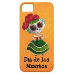 Srta. muerte de Dia de Muertos mexican Funda Para iPhone SE/5/5s