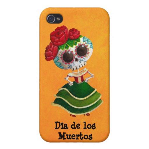 Srta. muerte de Dia de Muertos mexican iPhone 4/4S Funda