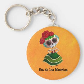 Srta muerte de Dia de Muertos mexican Llaveros