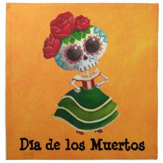 Srta muerte de Dia de Muertos mexican Servilleta De Papel