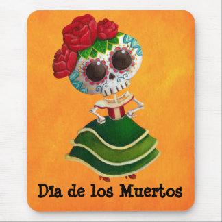 Srta. muerte de Dia de Muertos mexican Alfombrilla De Ratón