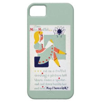 Srta. Muffet WPA de la poesía infantil de la mamá  iPhone 5 Cárcasa