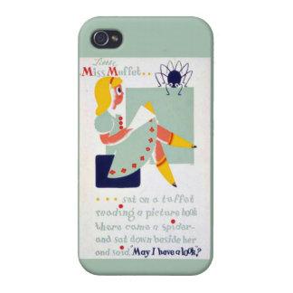 Srta. Muffet WPA de la poesía infantil de la mamá  iPhone 4 Cárcasa