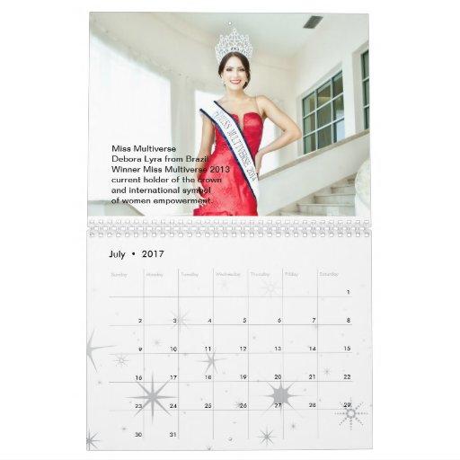 Srta. Multiverse Model y calendario de la reina de