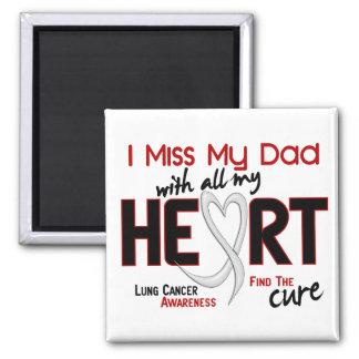 Srta. My Dad del cáncer de pulmón I Imán Cuadrado