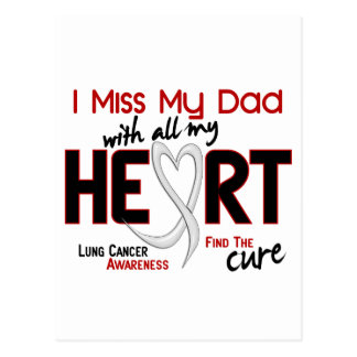 Srta. My Dad del cáncer de pulmón I Postales