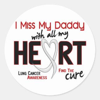 Srta. My Daddy del cáncer de pulmón I Pegatina Redonda