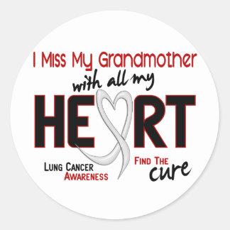 Srta. My Grandmother del cáncer de pulmón I Pegatina Redonda
