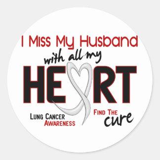 Srta. My Husband del cáncer de pulmón I Pegatina Redonda