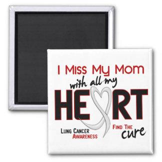 Srta. My Mom del cáncer de pulmón I Imán Cuadrado