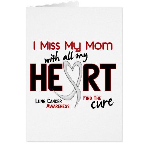 Srta. My Mom del cáncer de pulmón I Tarjetas