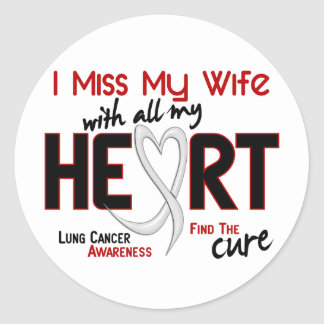 Srta. My Wife del cáncer de pulmón I Pegatina Redonda
