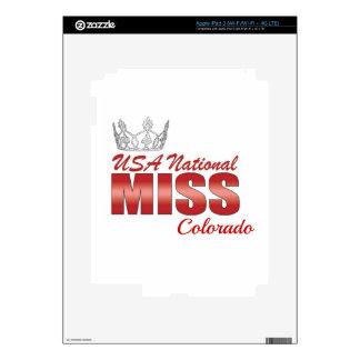 Srta. nacional Colorado de los E.E.U.U. iPad 3 Pegatinas Skins