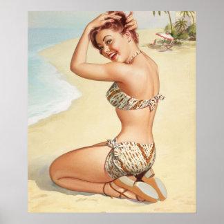 Srta. Nassau, aguamarina viaja a las series, Pin Póster
