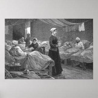Srta. Nightingale en el hospital del cuartel Impresiones
